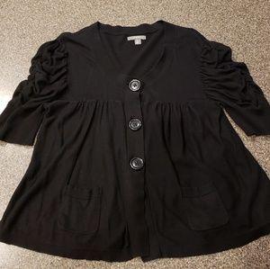 Apt. 9 Tops - Apt 9 Black short sleeve cardigan